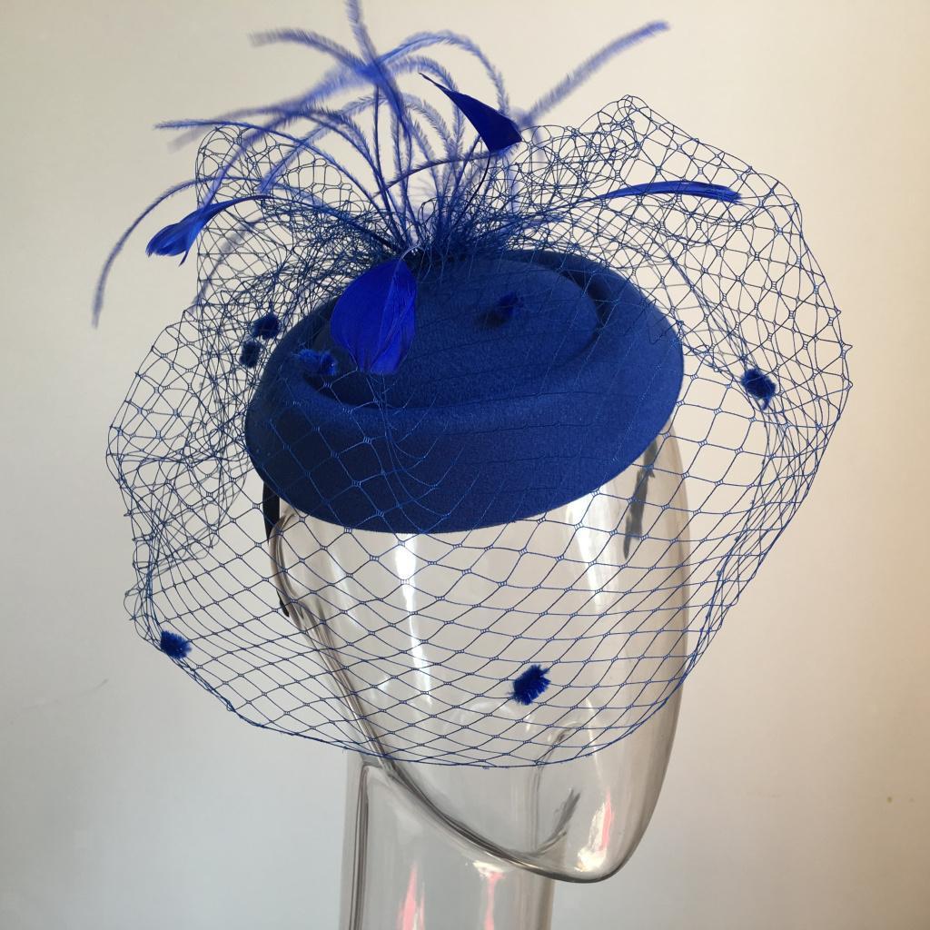 Women-039-s-Fascinator-Hat-Mesh-Veil-Feathers-Headband-Cocktail-Tea-Party-Hats thumbnail 6