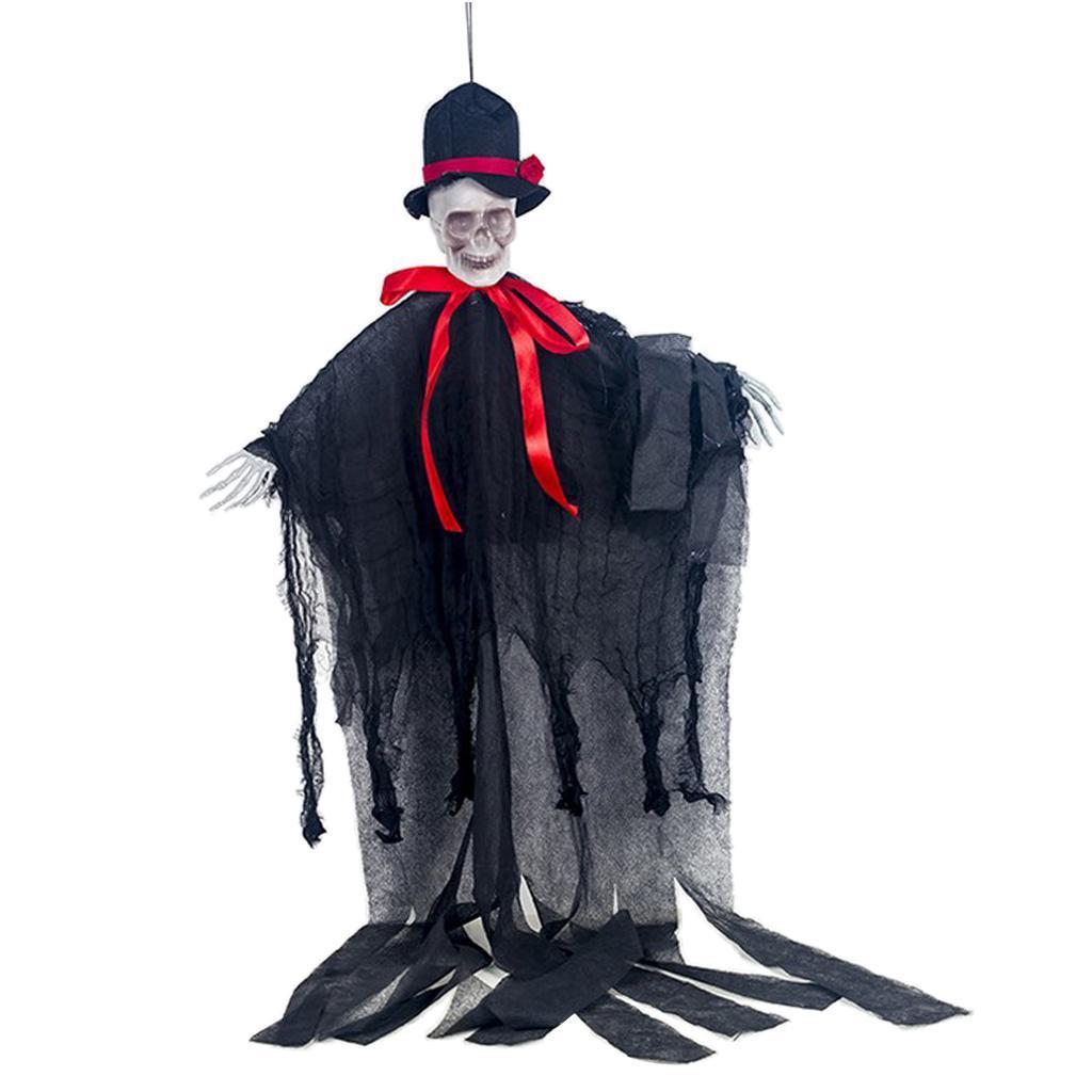 Creepy Skeleton Face Hanging Ghost Halloween Decoration