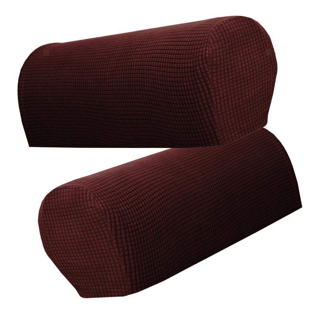 21 5 X 9 5 X 9 Couch Arm Covers: Set Of 2 Sofa Armrest Cover Stretch Fabric For Couches