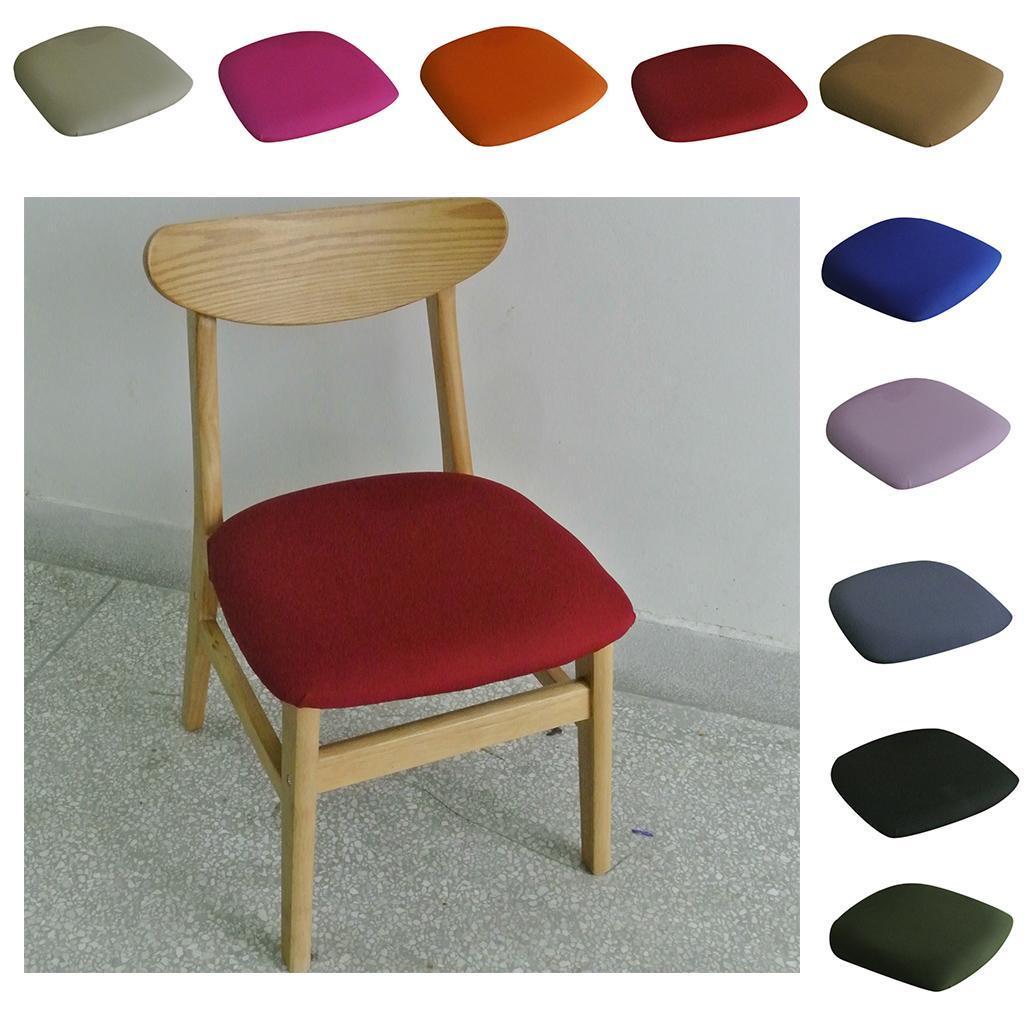 Detalles acerca de Comedor Silla Fundas de asiento silla asiento tapizado  de la cena de estiramiento Cubierta para Cojín- mostrar título original