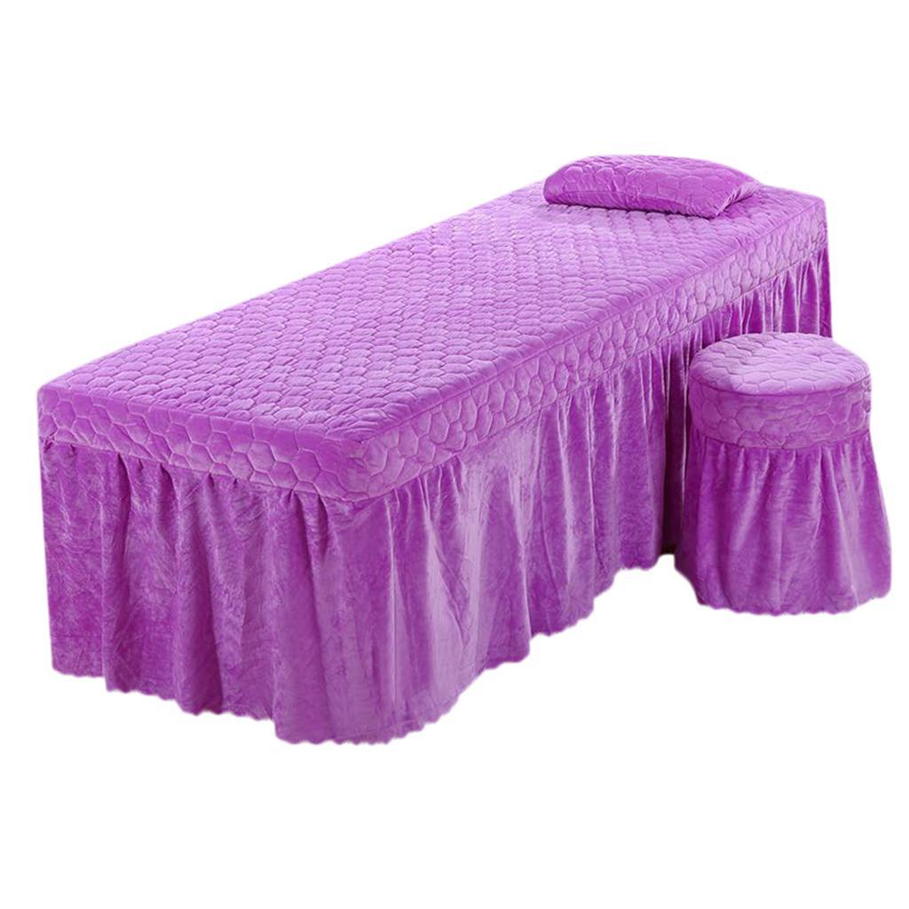 SPA-Massage-Bed-Bedding-Linen-Set-Table-Skirts-Pillow-Case-Stool-Cover thumbnail 21