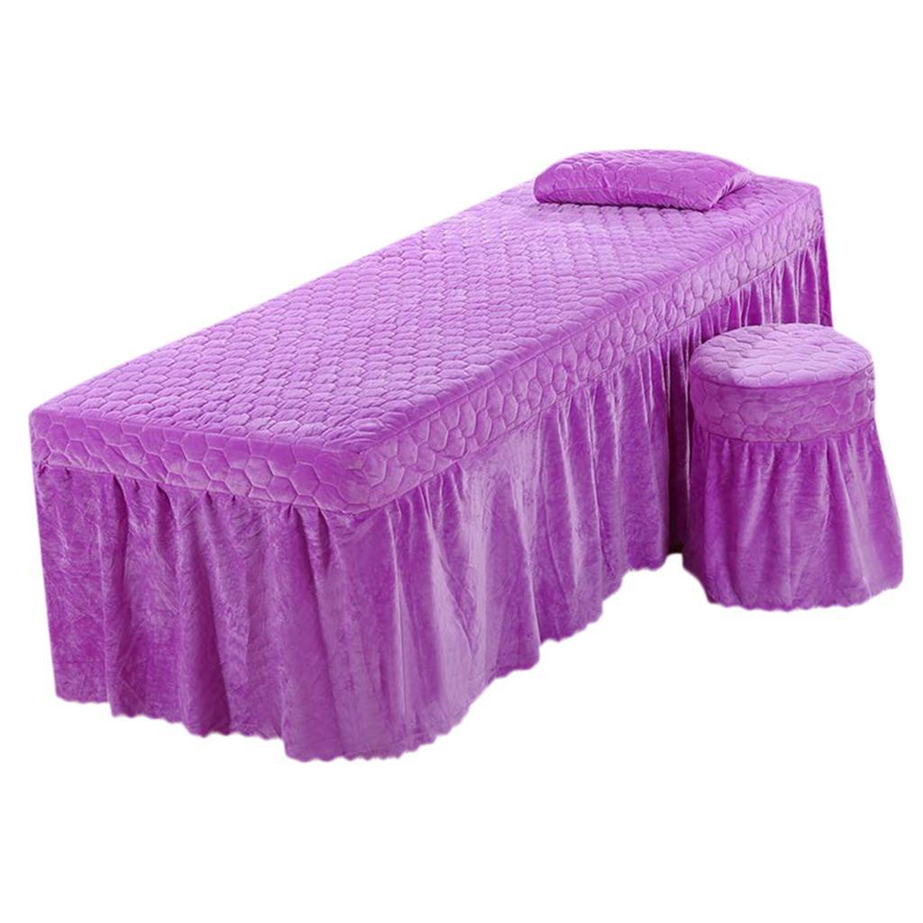 SPA-Massage-Bed-Bedding-Linen-Set-Table-Skirts-Pillow-Case-Stool-Cover thumbnail 22