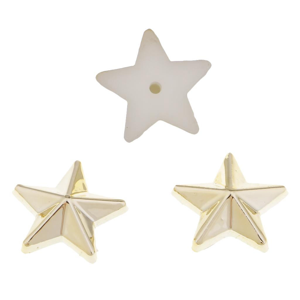 100 Sets Plastic Star Rivets Studs Spikes Buttons for Bags Shoes Clothing Decor