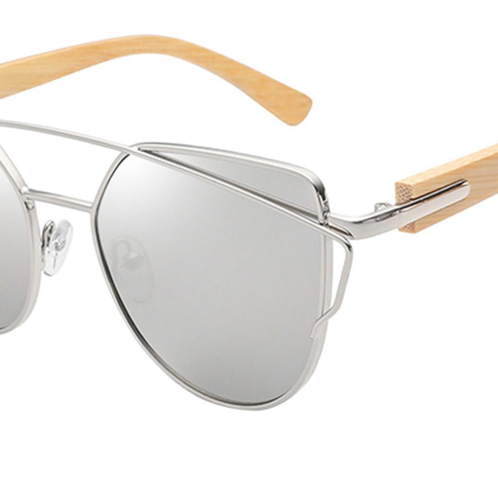 uomo-donna-moda-in-legno-uv-400-lenti-piatte-occhiali-da-sole-con-gambe-di miniatura 24