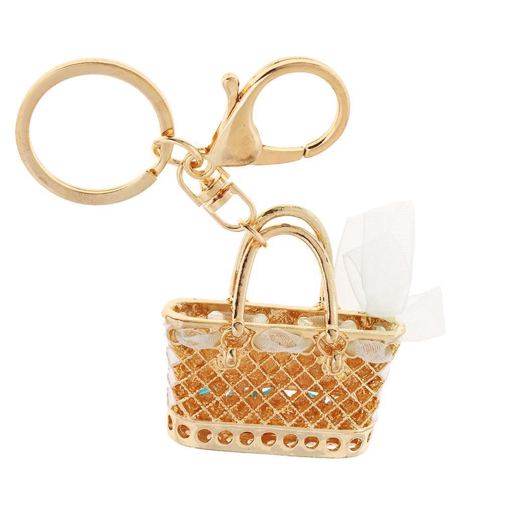 Alloy-Fashion-Flamingo-Rhinestone-Keyring-Bag-Hanging-Decor-Women-Keychain thumbnail 17