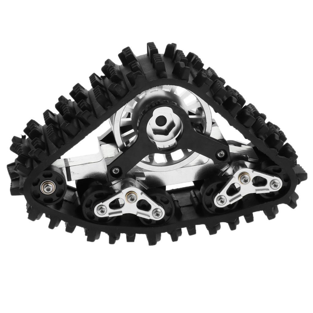 Pista De Metal 1 10 Ruedas Llantas nieve para Axial SCX10 Rc Crawlers Modelo las piezas de hágalo usted mismo