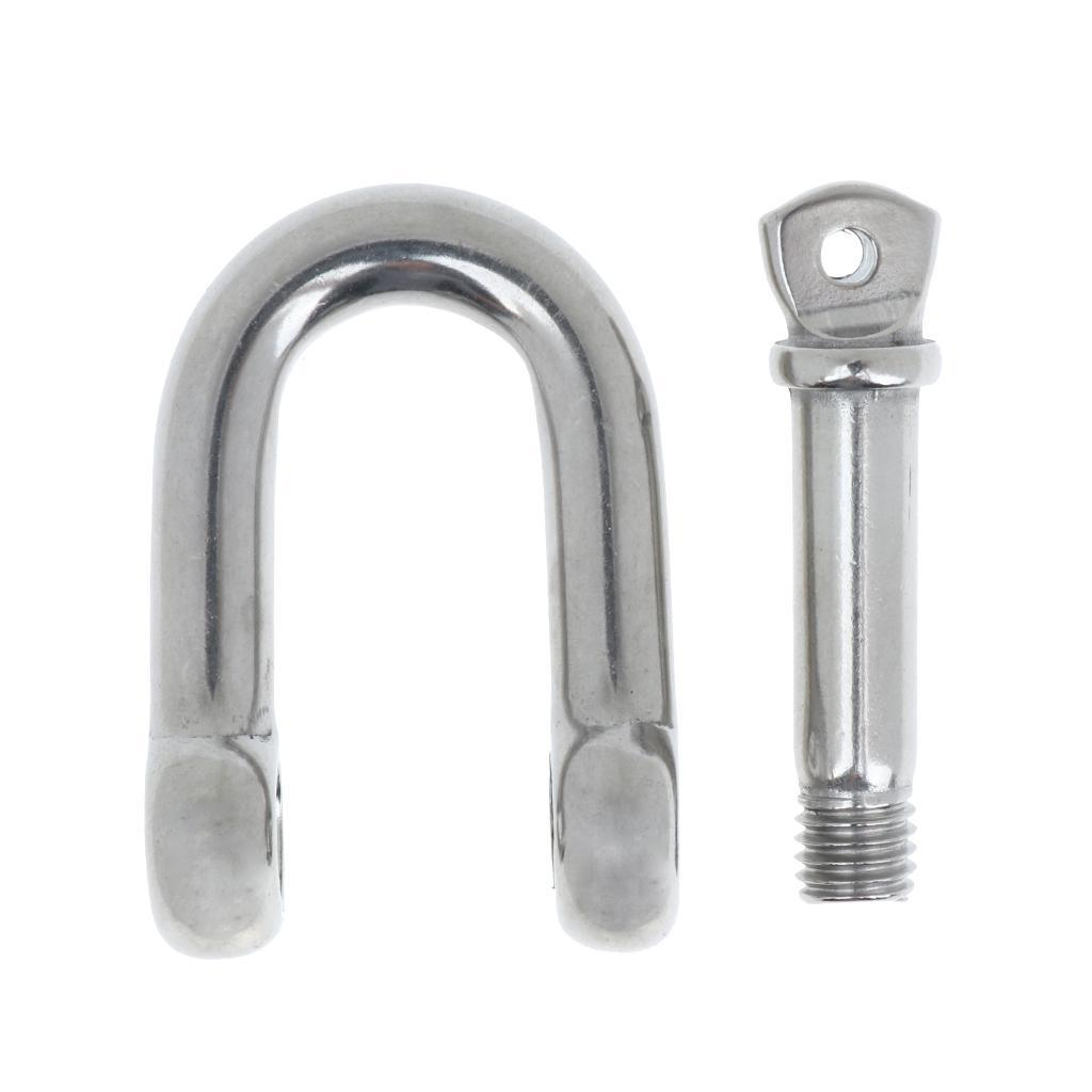 Stainless-Steel-D-Shackle-Chain-Shackle-Rigging-Anti-rust-Fastener-M10-M14 thumbnail 4