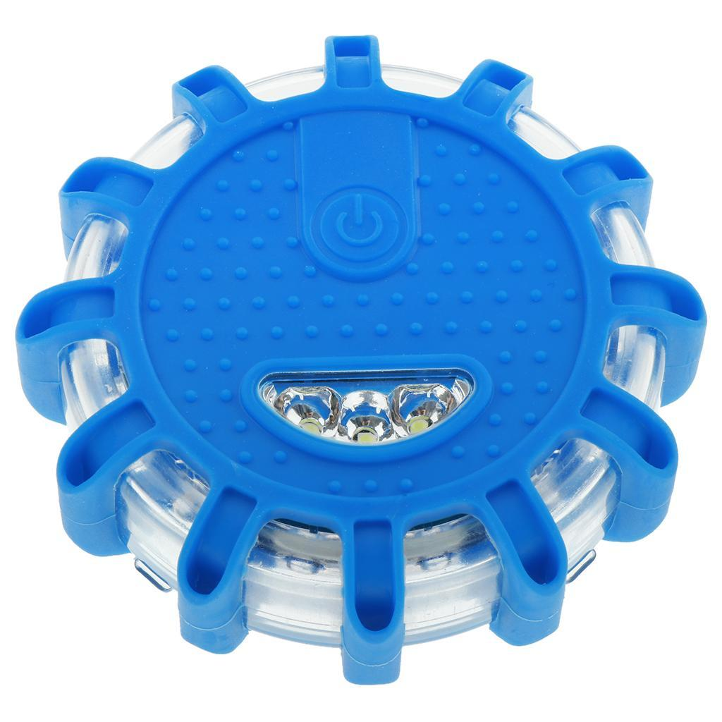 bluee Waterproof LED Road Warning Safety Flare with  Magnetic Base 9 Patterns  everyday low prices