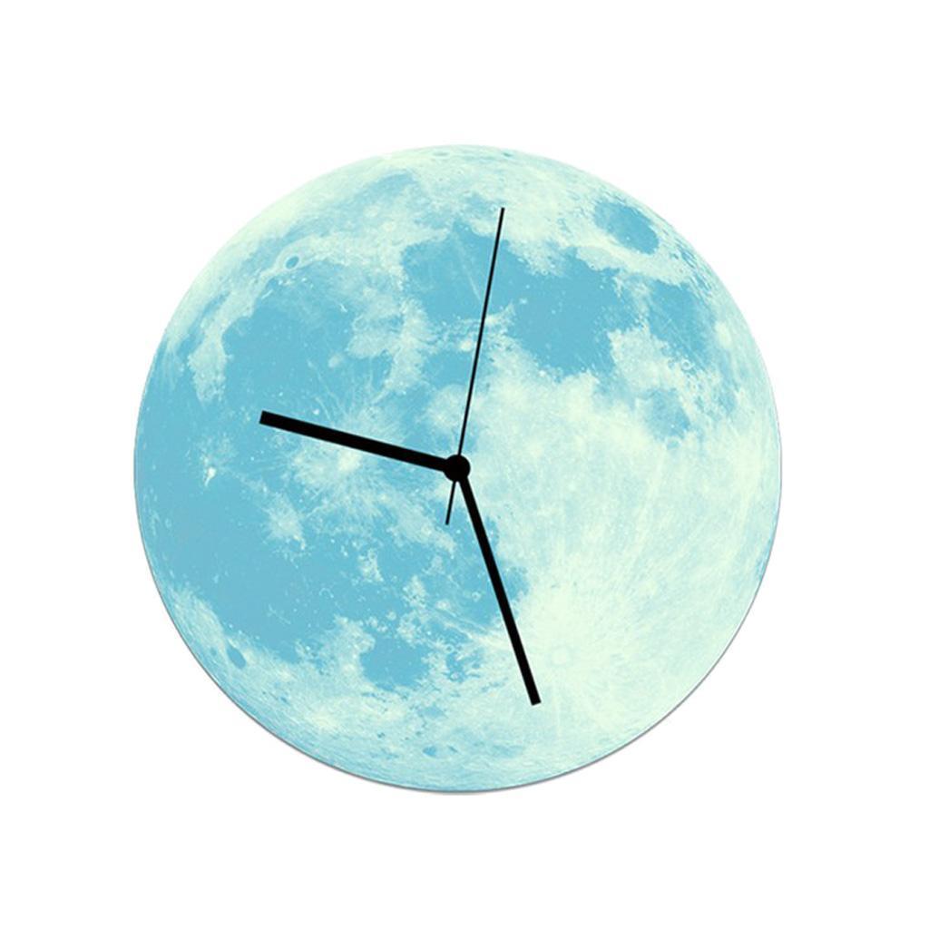 Indoor-Decorative-Wall-Clock-12inch-Luminous-Moon-Battery-Operated-Silent thumbnail 35