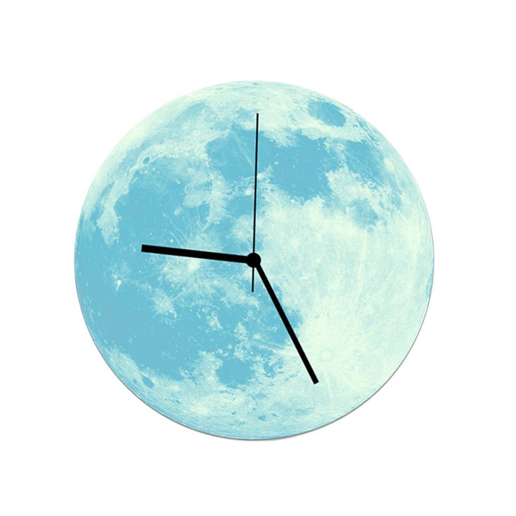 Indoor-Decorative-Wall-Clock-12inch-Luminous-Moon-Battery-Operated-Silent thumbnail 32