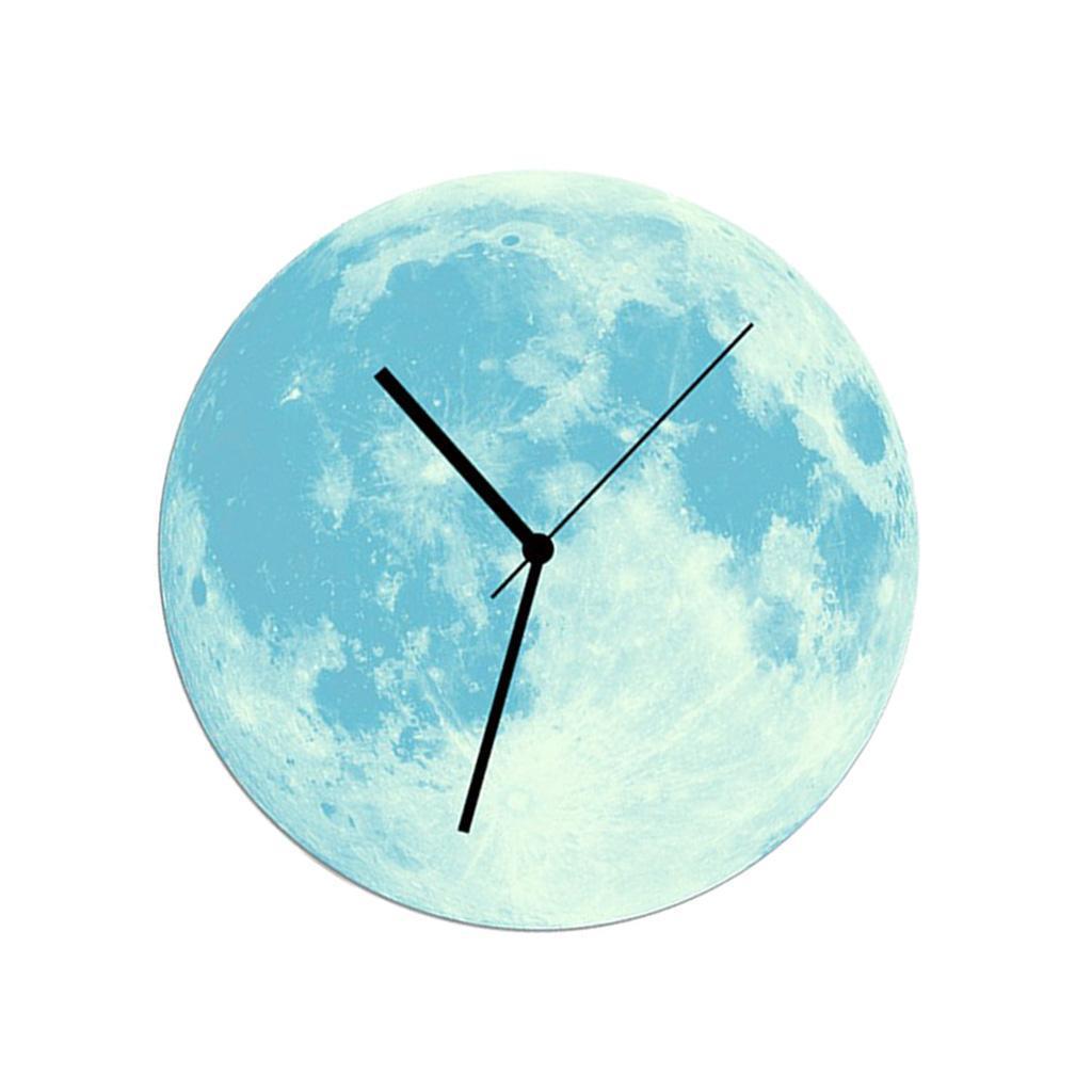 Indoor-Decorative-Wall-Clock-12inch-Luminous-Moon-Battery-Operated-Silent thumbnail 33