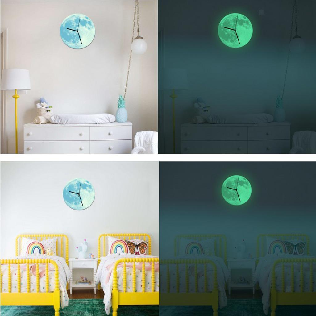Indoor-Decorative-Wall-Clock-12inch-Luminous-Moon-Battery-Operated-Silent thumbnail 31