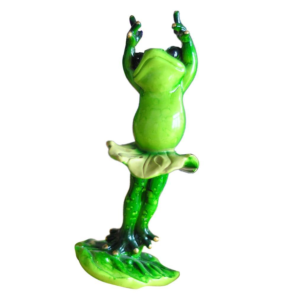 Yoga Frogs 3D Handmade Frog Figurine Model for Home Garden Yard Decor d