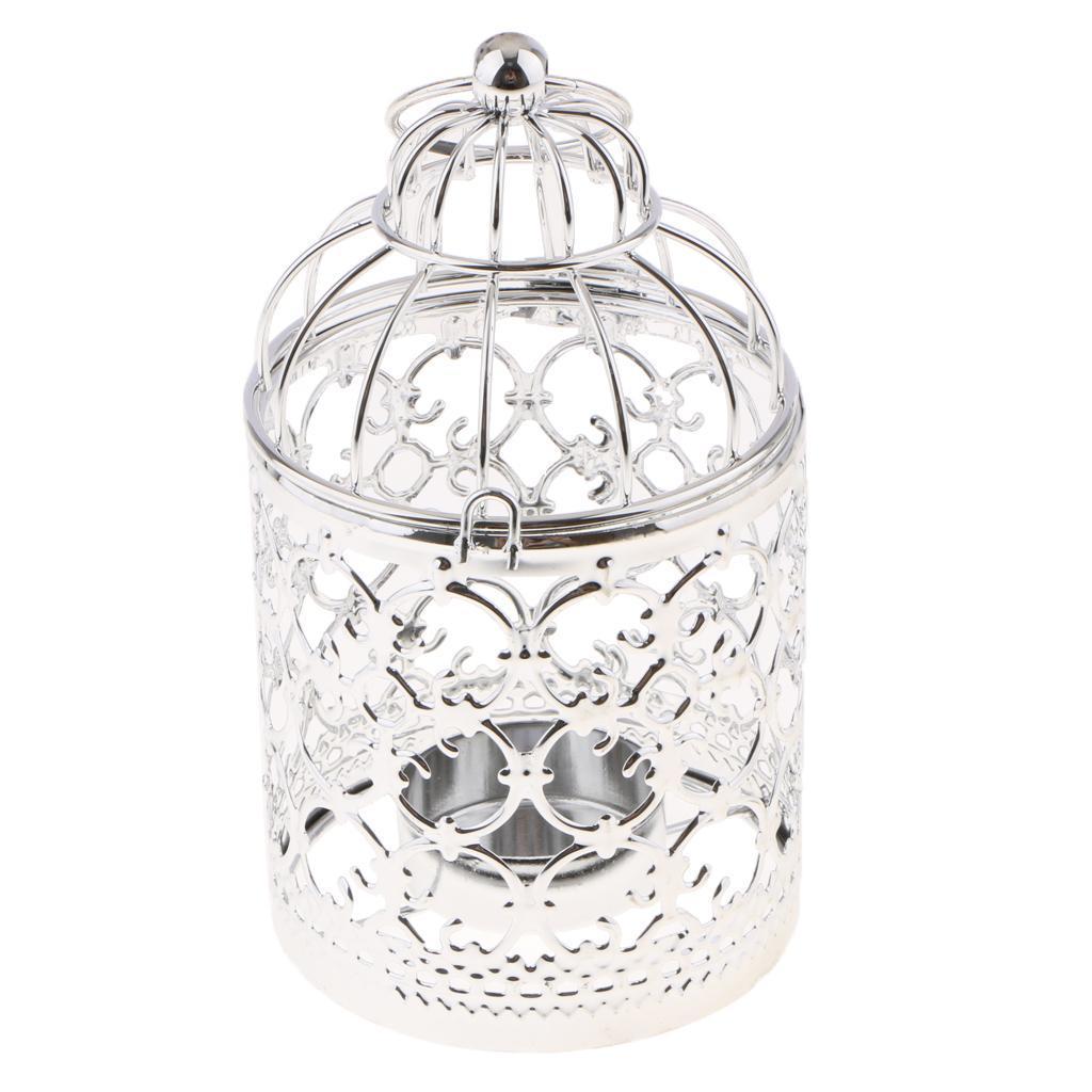 Hollowed-Flower-Metal-Tealight-Candlestick-Birdcage-Candle-Holder thumbnail 6