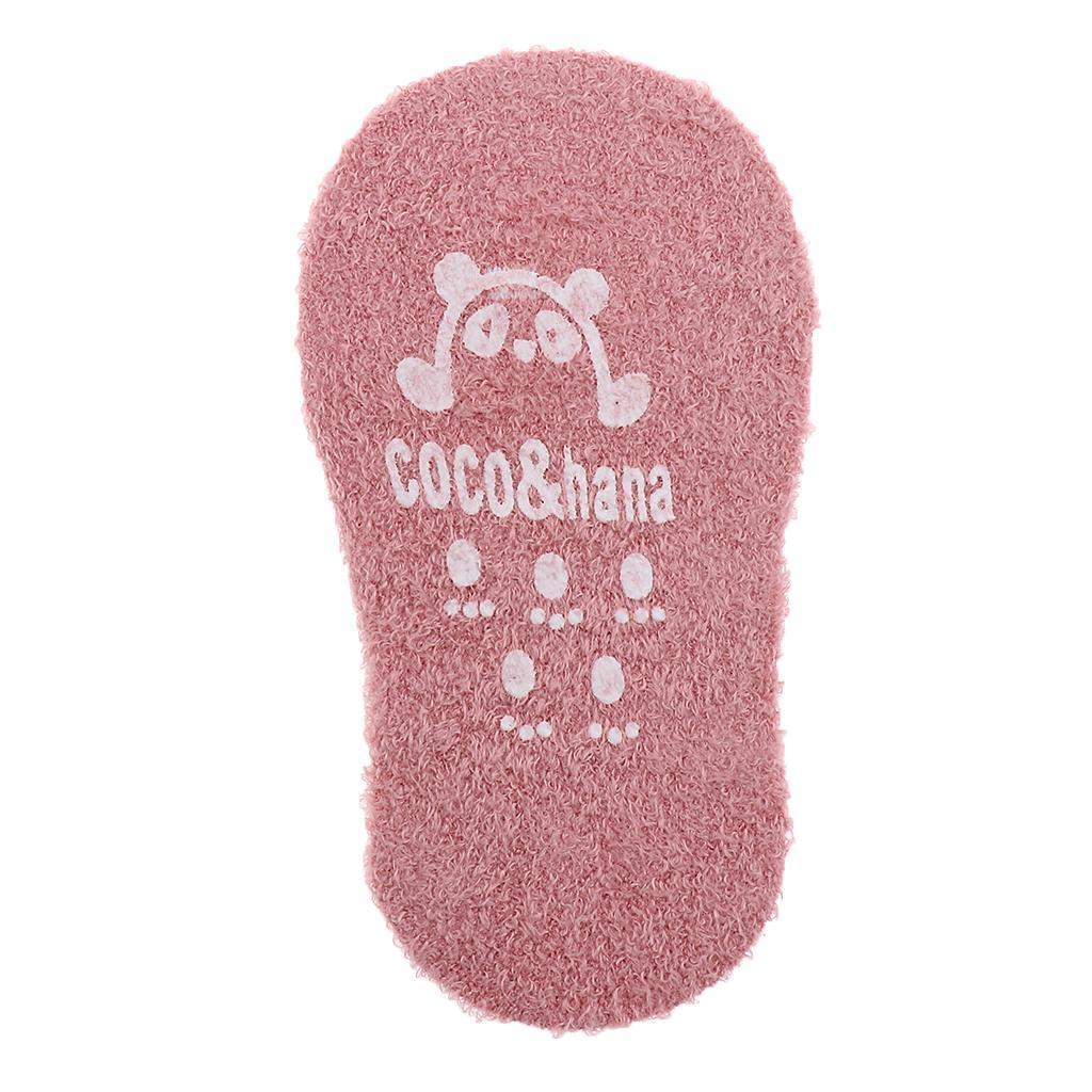 Chaussons-Bebe-Chaussettes-Bateaux-Antiderapant-Cartoon-Chaud-Pompon-Coton-Doux miniature 30