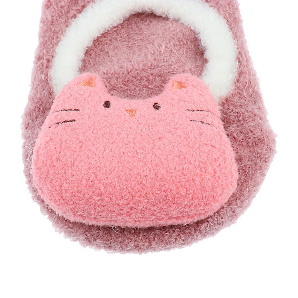 Chaussons-Bebe-Chaussettes-Bateaux-Antiderapant-Cartoon-Chaud-Pompon-Coton-Doux miniature 32
