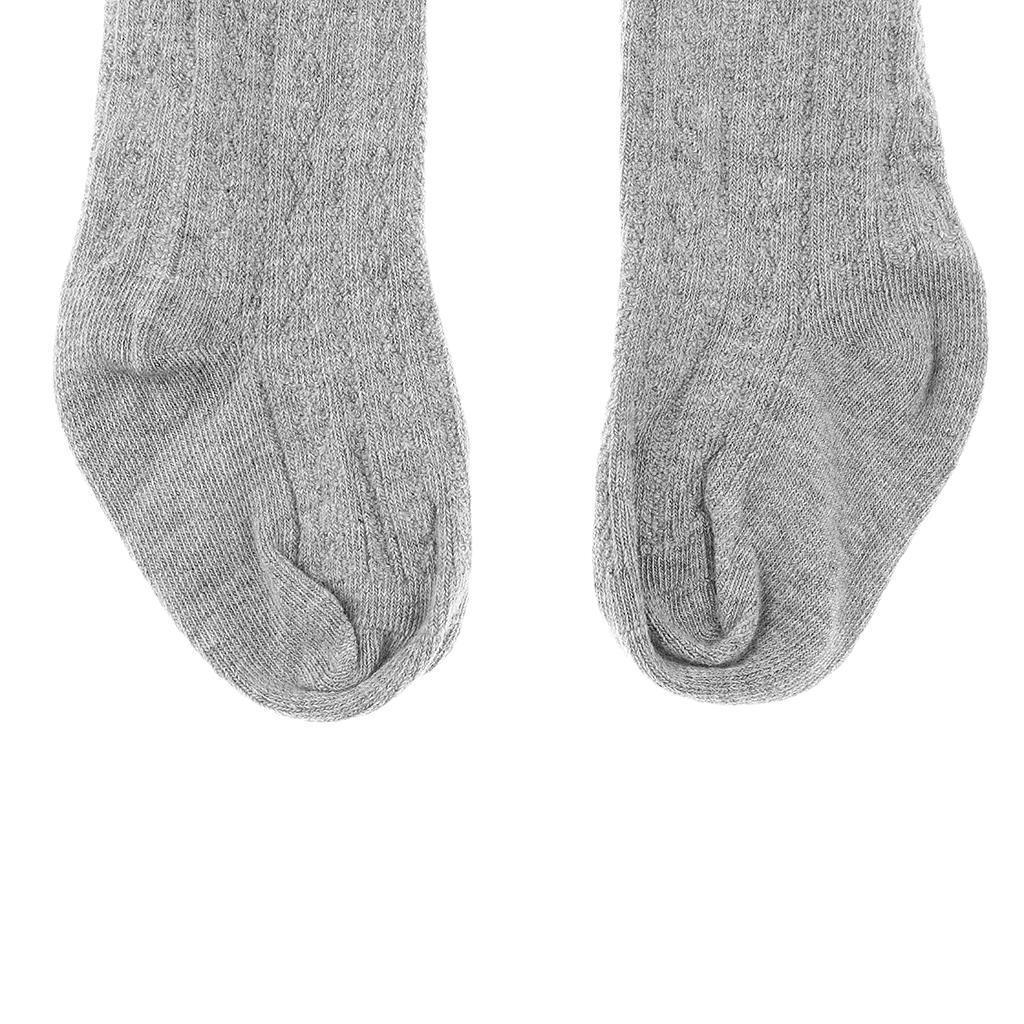 Collants-Bebe-Filles-Hiver-Coton-Tricote-Losange-Elastique-Antiderapant miniature 5