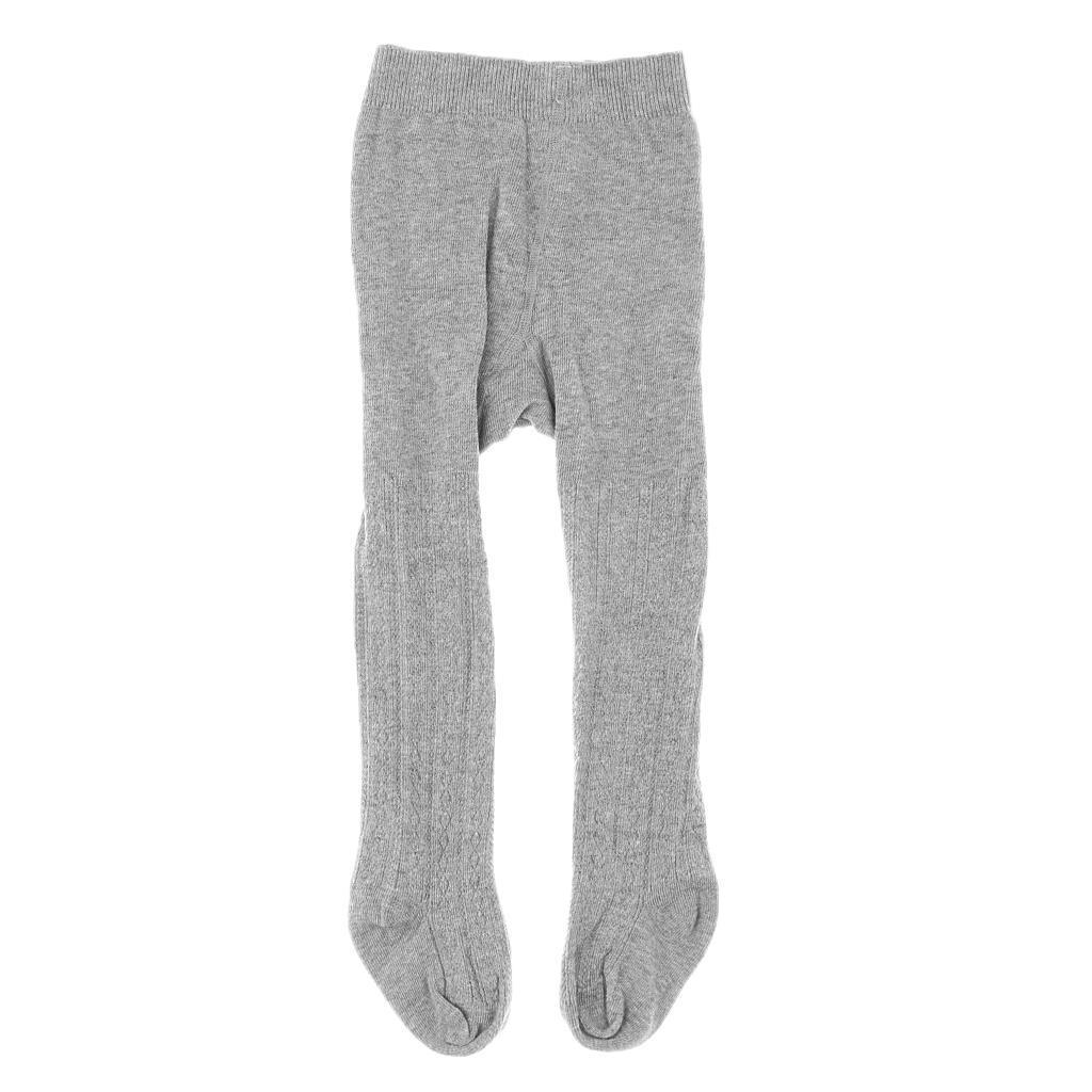 Collants-Bebe-Filles-Hiver-Coton-Tricote-Losange-Elastique-Antiderapant miniature 3