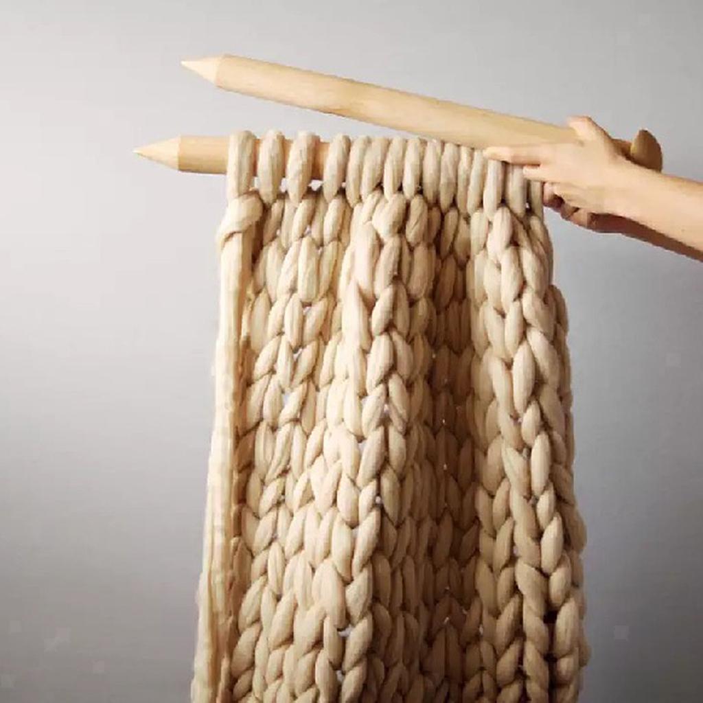 Chunky-Knit-Blanket-Super-Large-Bulky-Arm-Knitting-Blanket-Big-Wool thumbnail 11