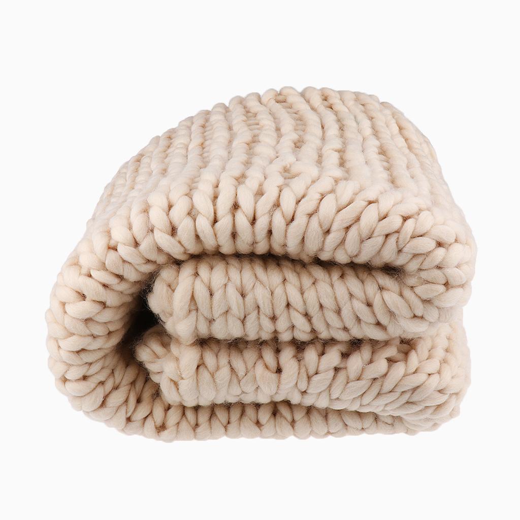 Chunky-Knit-Blanket-Super-Large-Bulky-Arm-Knitting-Blanket-Big-Wool thumbnail 9