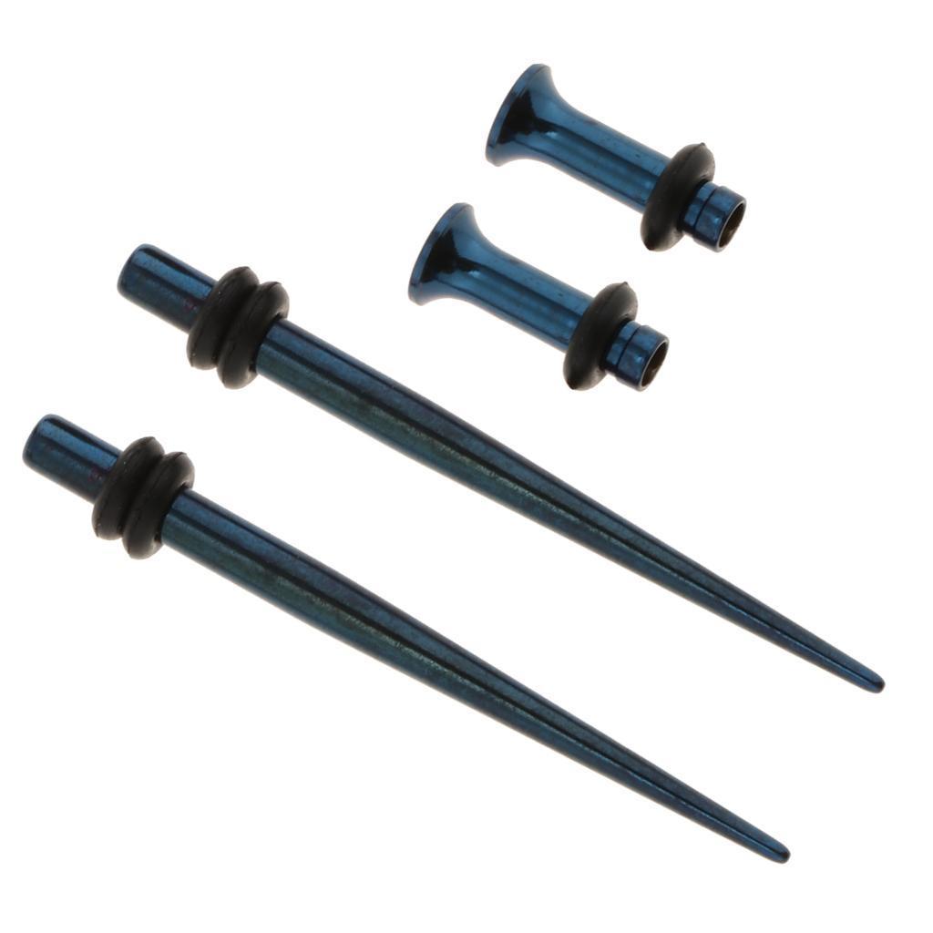 4-Pezzi-Kit-di-Allungamento-Taper-Tunnel-in-Acciaio-Inox-Accessori-per miniatura 9