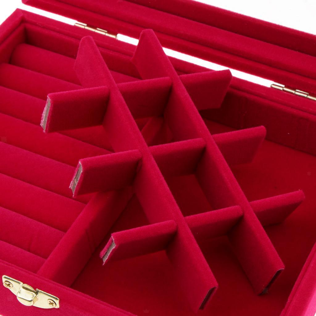 Cufflinks-Earrings-Ring-Display-Showcase-Top-Glass-Lid-Jewelry-Organizer thumbnail 5