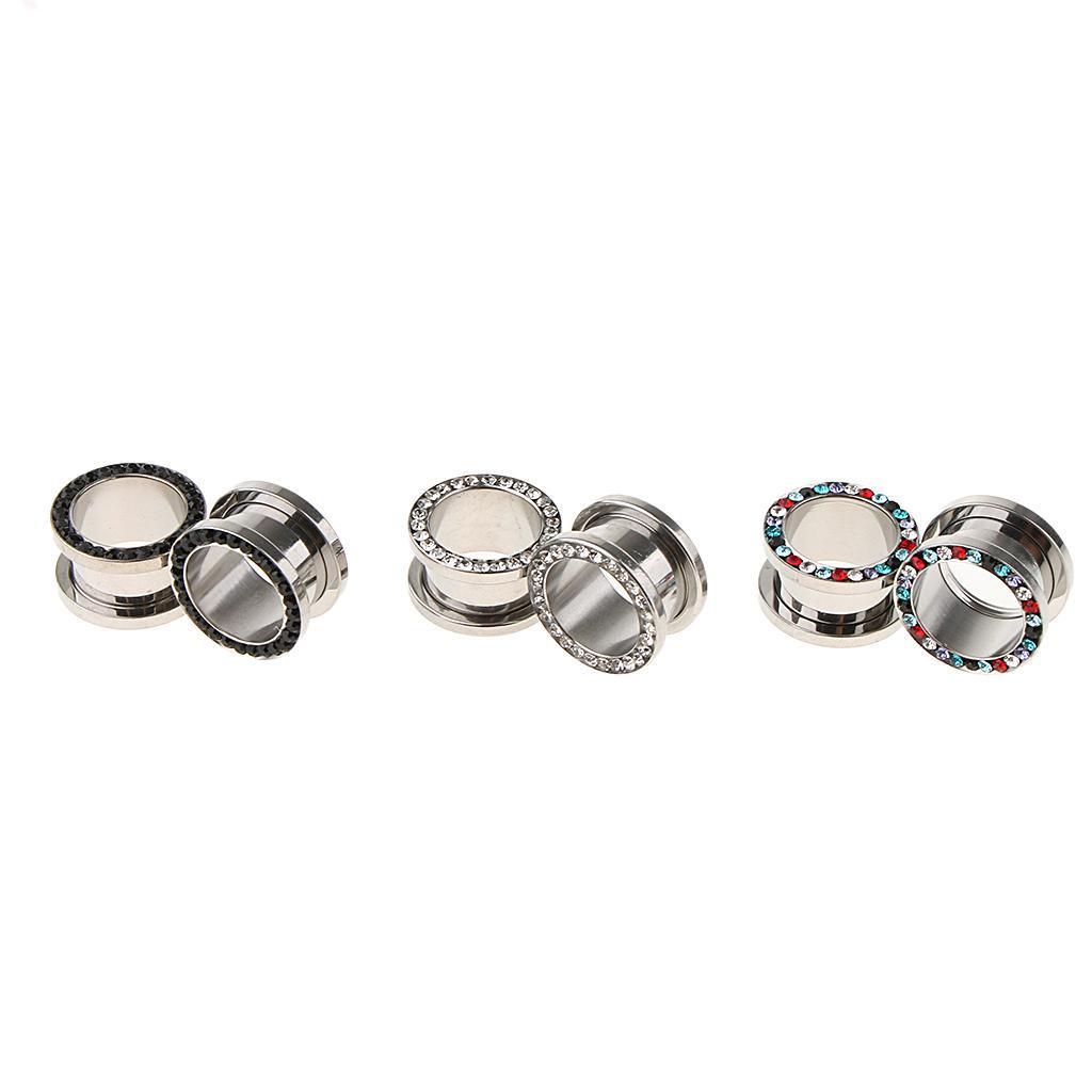 3-coppie-di-tappi-per-orecchie-in-acciaio-inox-Vite-per-tunnel-Tappi-per miniatura 18