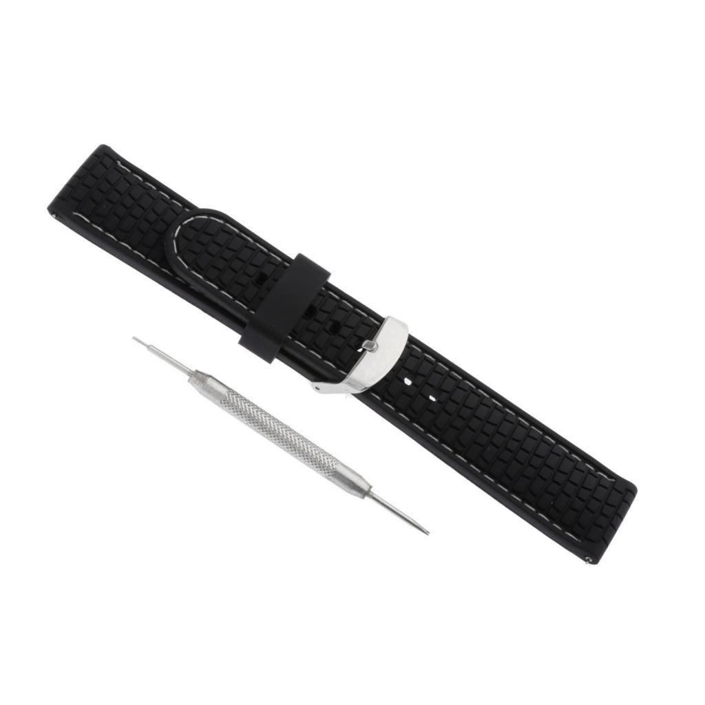 Waterproof-Silicone-Watch-Band-Strap-with-Stainless-Steel-Pin-Buckle-22mm thumbnail 18