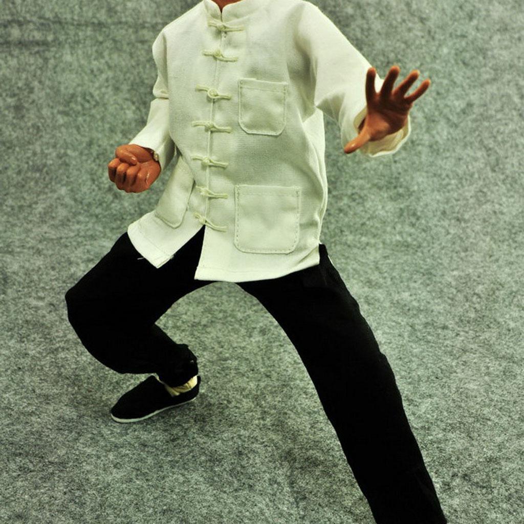 1-6-Clothes-Kung-Fu-Set-for-12-039-039-Enterbay-Bruce-Lee-Jet-Li-Donnie-Yen-Figure miniature 4