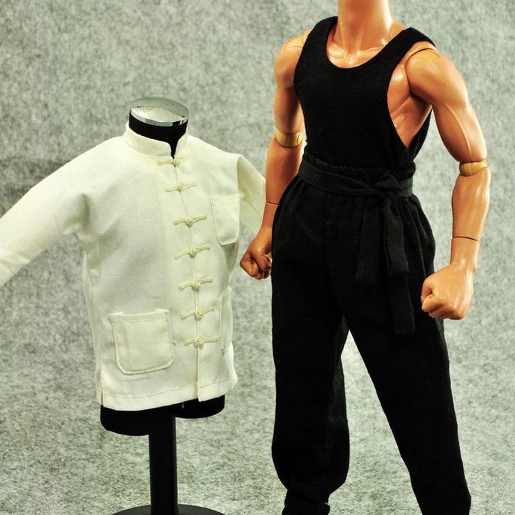 1-6-Clothes-Kung-Fu-Set-for-12-039-039-Enterbay-Bruce-Lee-Jet-Li-Donnie-Yen-Figure miniature 5