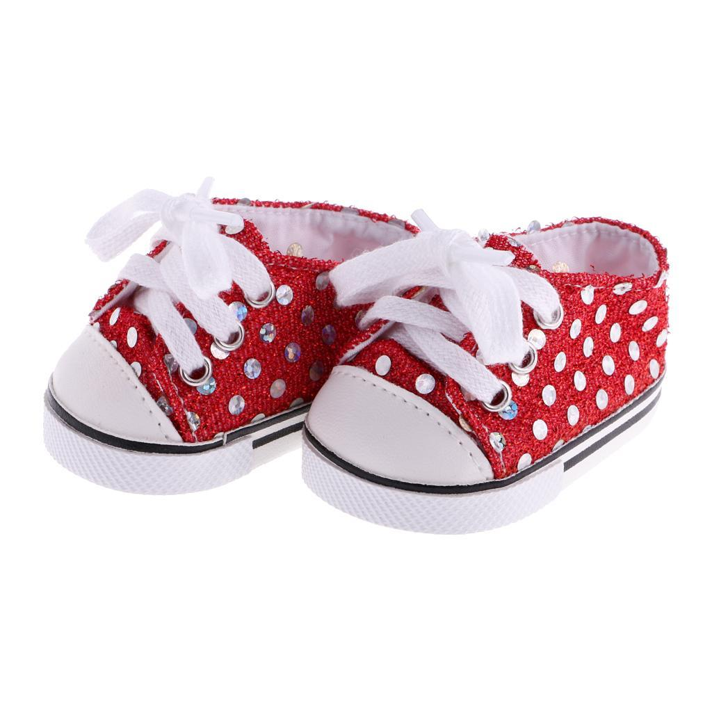 New-Cute-Pair-of-Doll-Shoes-for-18-039-039-American-doll-AG-Dolls-Clothes-Accessories thumbnail 9