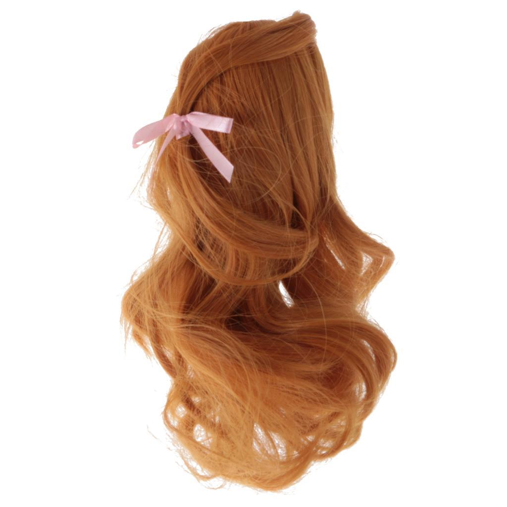 Straight-Wavy-Curly-Hair-Wig-for-18-039-039-Dolls-Clothes-Accessories thumbnail 45