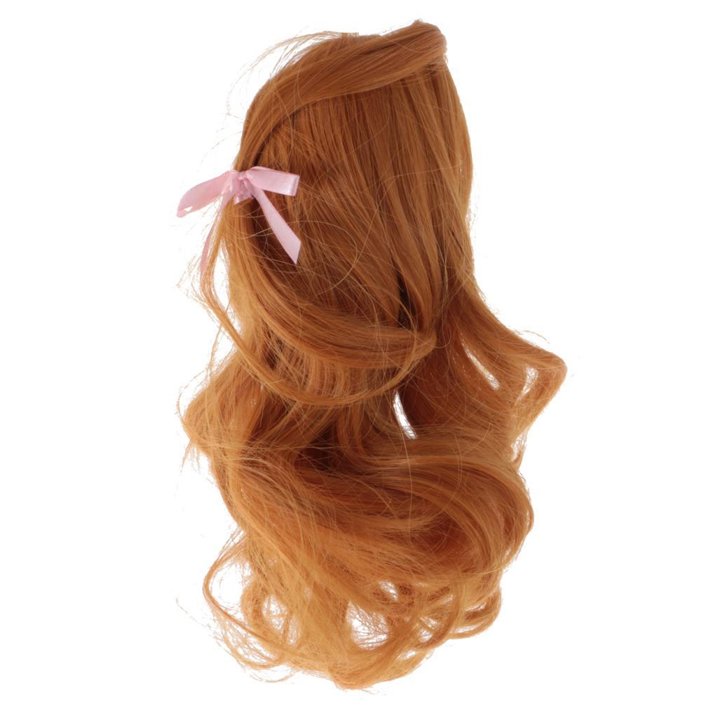 Straight-Gradient-Curly-Hair-Wig-for-18-039-039-Doll-Dress-up-Accessory thumbnail 49