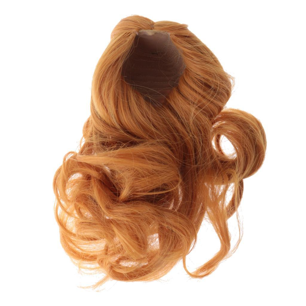 Straight-Gradient-Curly-Hair-Wig-for-18-039-039-Doll-Dress-up-Accessory thumbnail 48