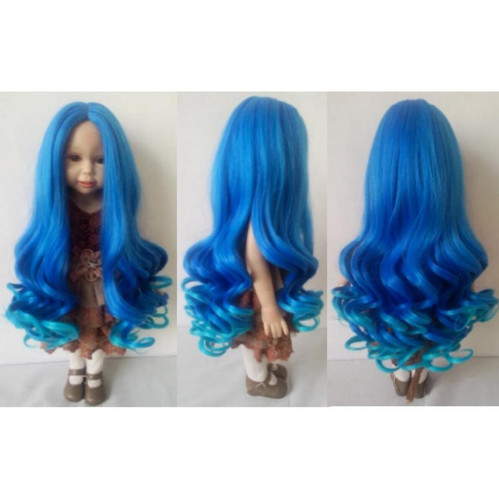 Straight-Gradient-Curly-Hair-Wig-for-18-039-039-Doll-Dress-up-Accessory thumbnail 92