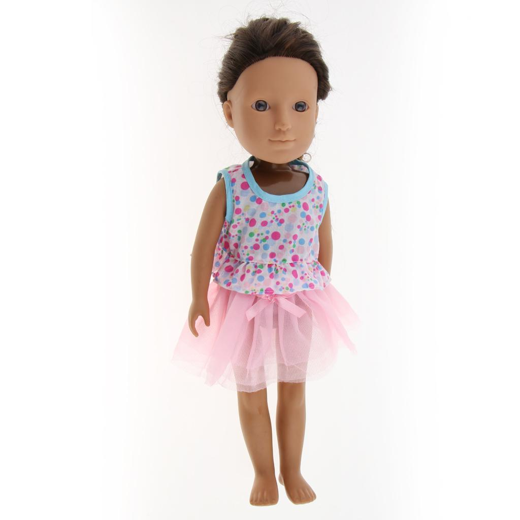 For-14-inch-Wellie-Wishers-American-Doll-Dolls-Clothing-T-shirt-Miniskirt-Romper thumbnail 24