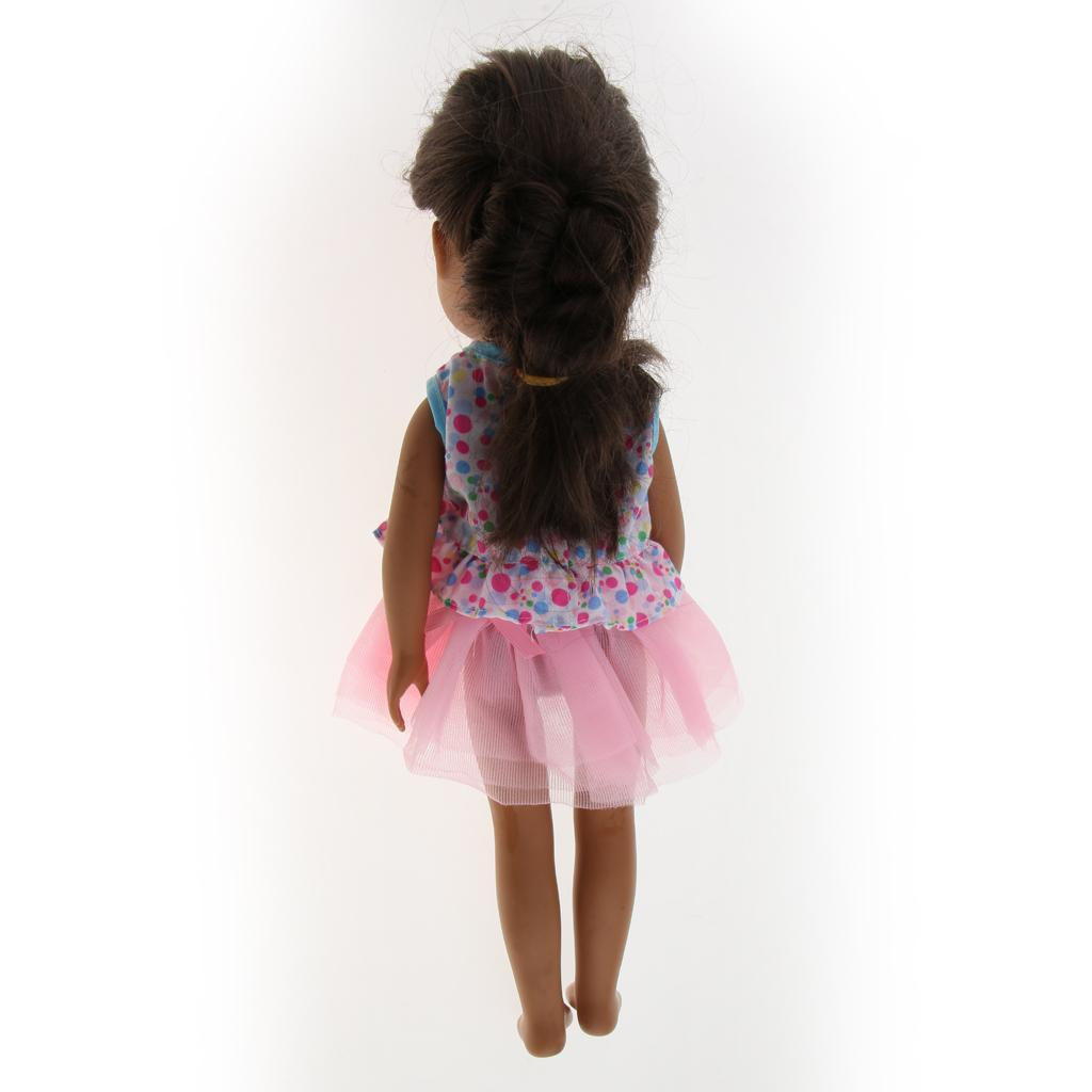 For-14-inch-Wellie-Wishers-American-Doll-Dolls-Clothing-T-shirt-Miniskirt-Romper thumbnail 25