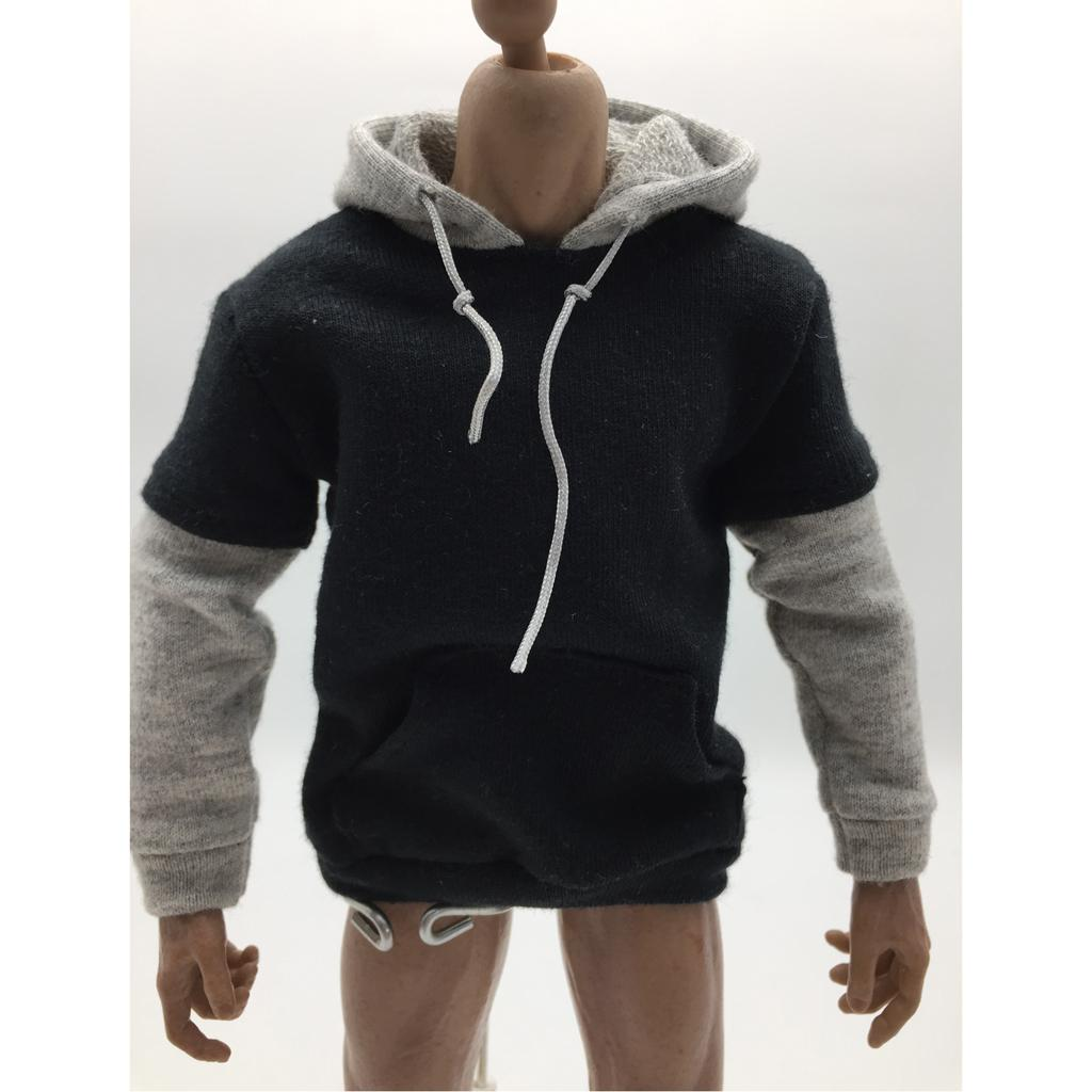 1//6 Scale Male Figure Body Clothes Hoodies Pullover 3 Colors F 12 Action Figure
