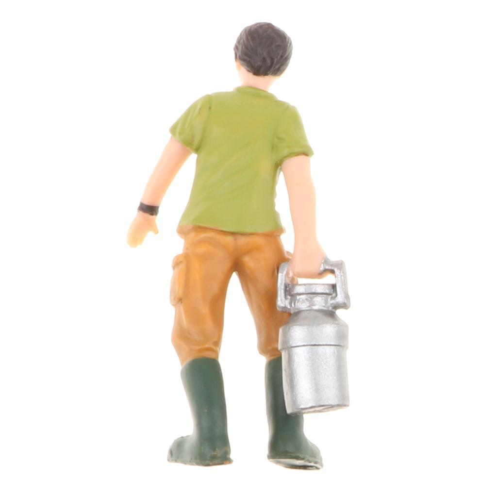 Plastic-Colorful-People-Model-Figure-Ranch-Worker-Figurines-Kid-Gift-Decor thumbnail 10