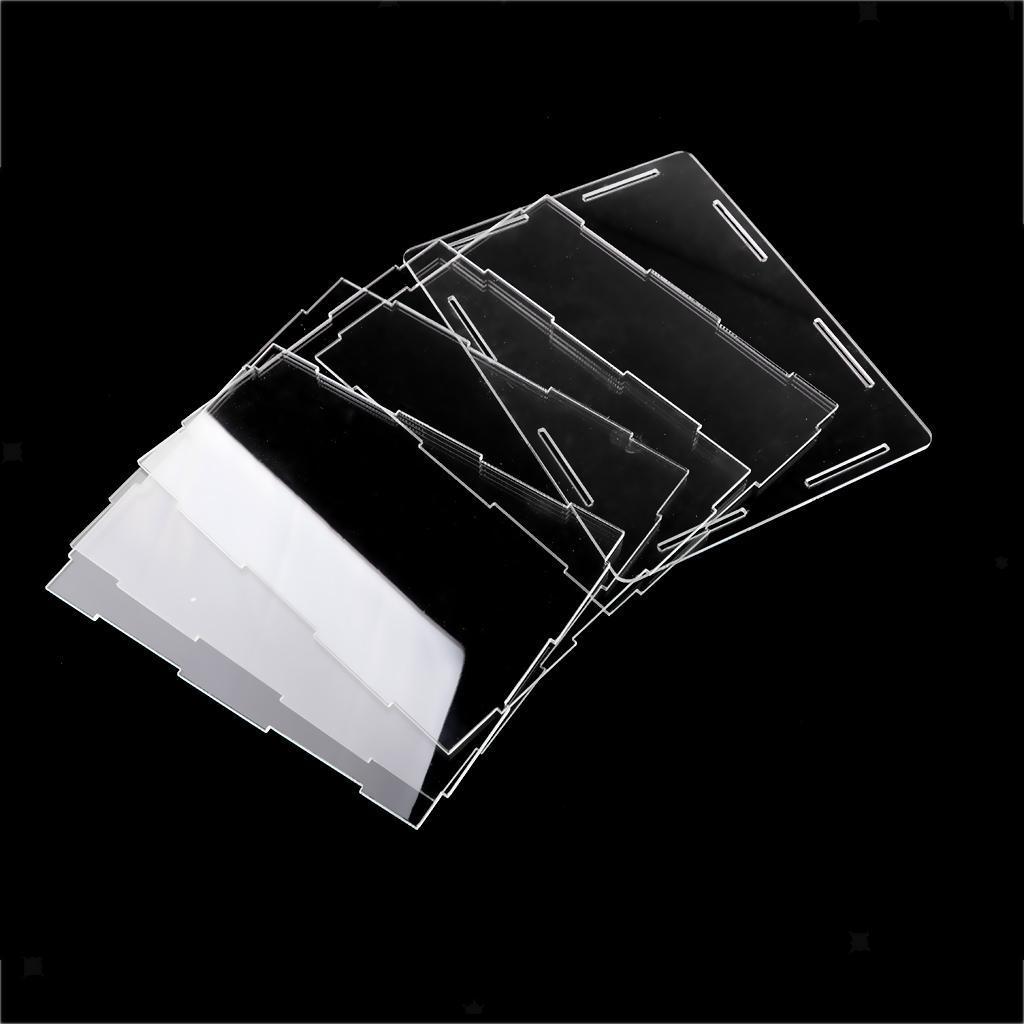 6er caja triple 9 vitrinas acrílico para automóviles modelo en escala 1:18