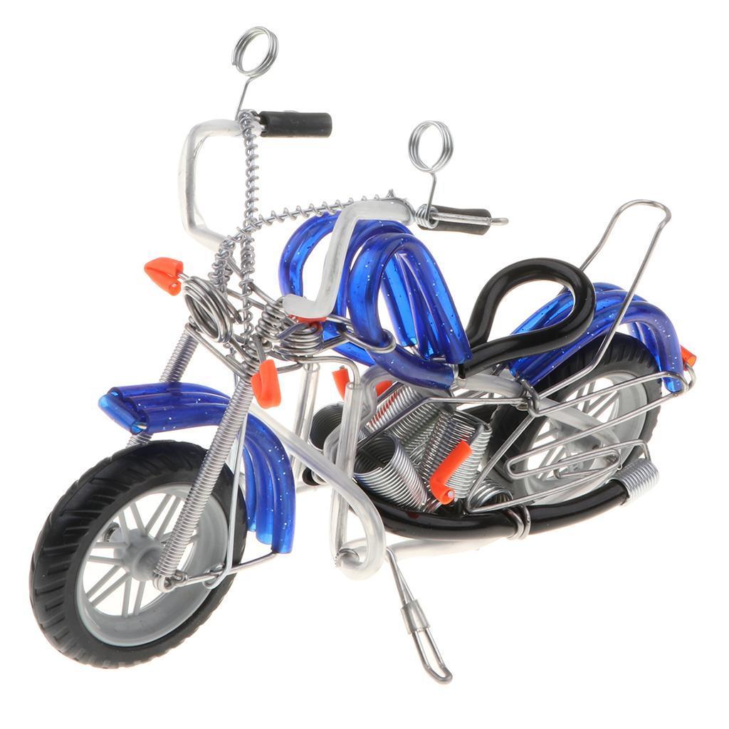 Modello-Di-Motocicletta-In-Metallo-Realistico-In-Ufficio-Vintage-Home-Decor miniatura 16