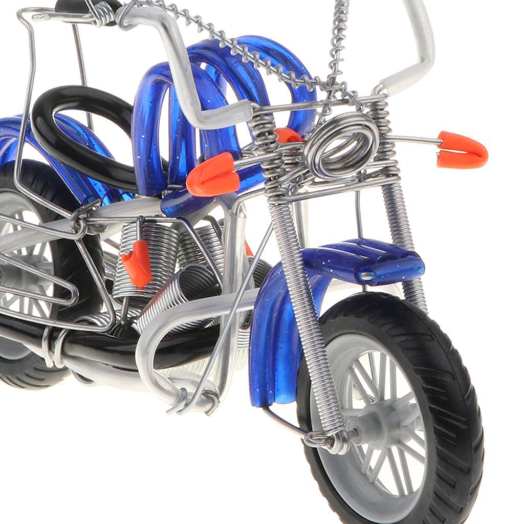 Modello-Di-Motocicletta-In-Metallo-Realistico-In-Ufficio-Vintage-Home-Decor miniatura 17