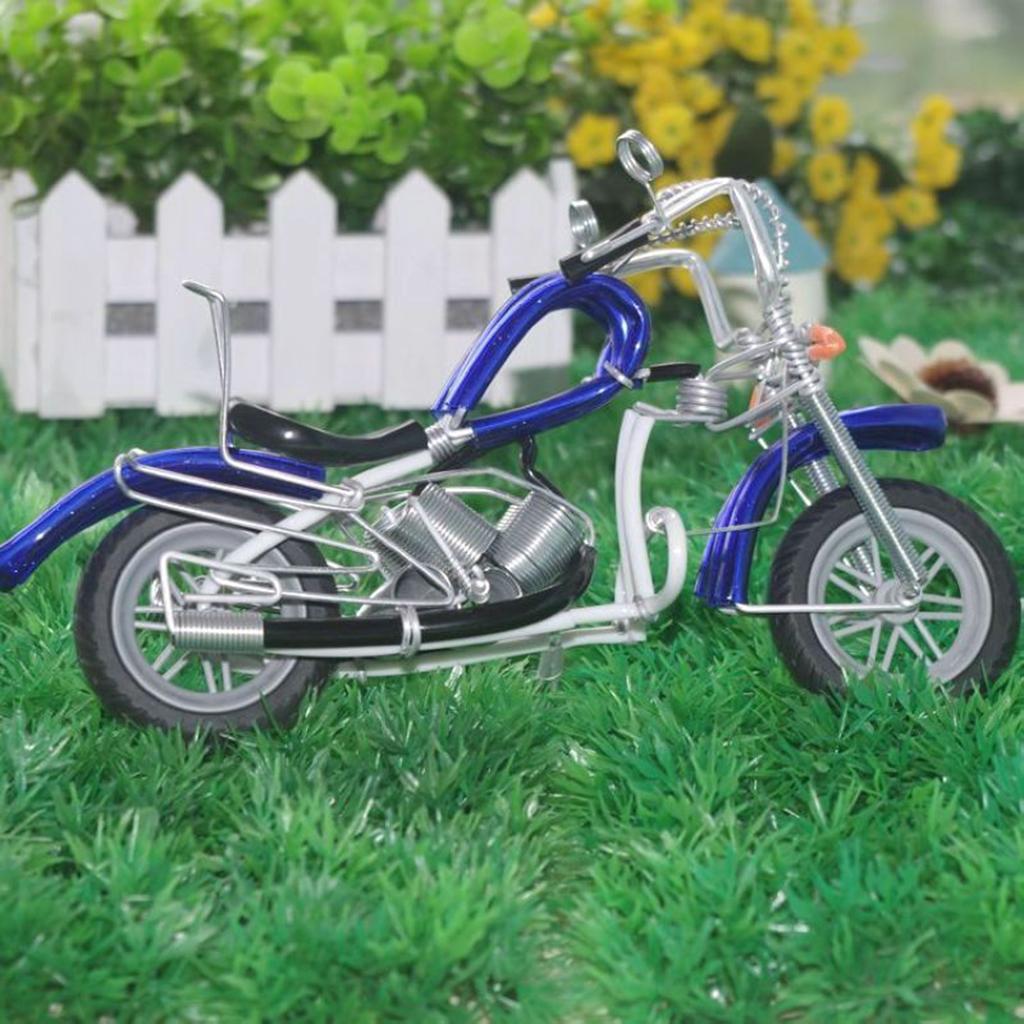 Mini-modello-di-moto-in-metallo-modello-di-moto-artigianato-perfetto-da miniatura 18