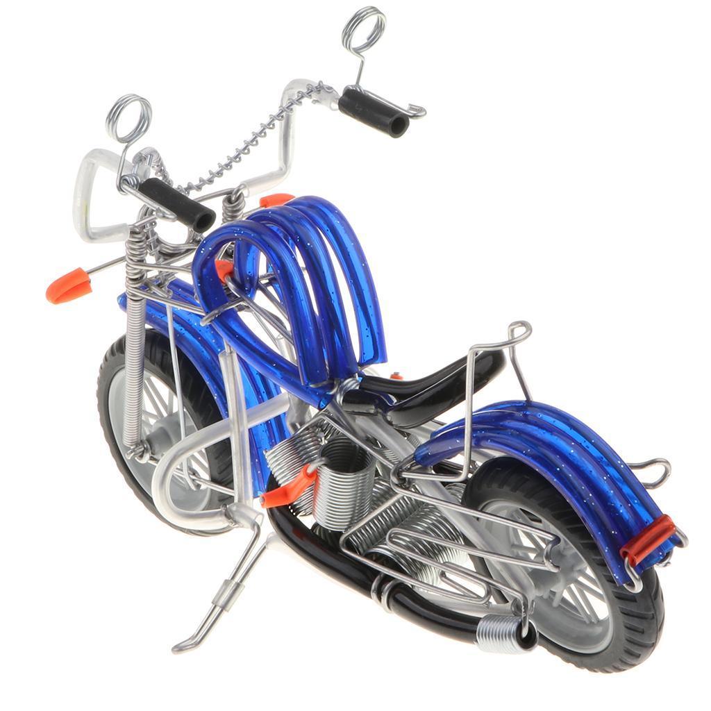 Mini-modello-di-moto-in-metallo-modello-di-moto-artigianato-perfetto-da miniatura 17