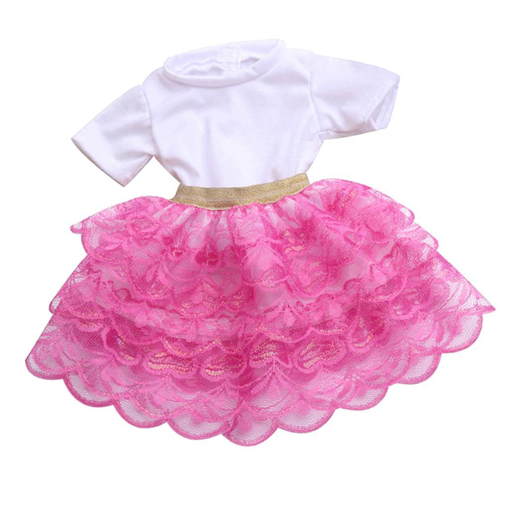 18inch-Girl-Doll-Princess-Skirt-for-American-Doll-Clothing-Accs-Kids-Gifts miniature 12