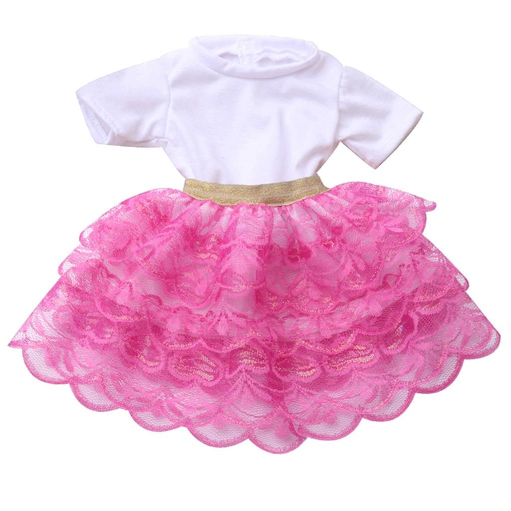 18inch-Girl-Doll-Princess-Skirt-for-American-Doll-Clothing-Accs-Kids-Gifts miniature 13