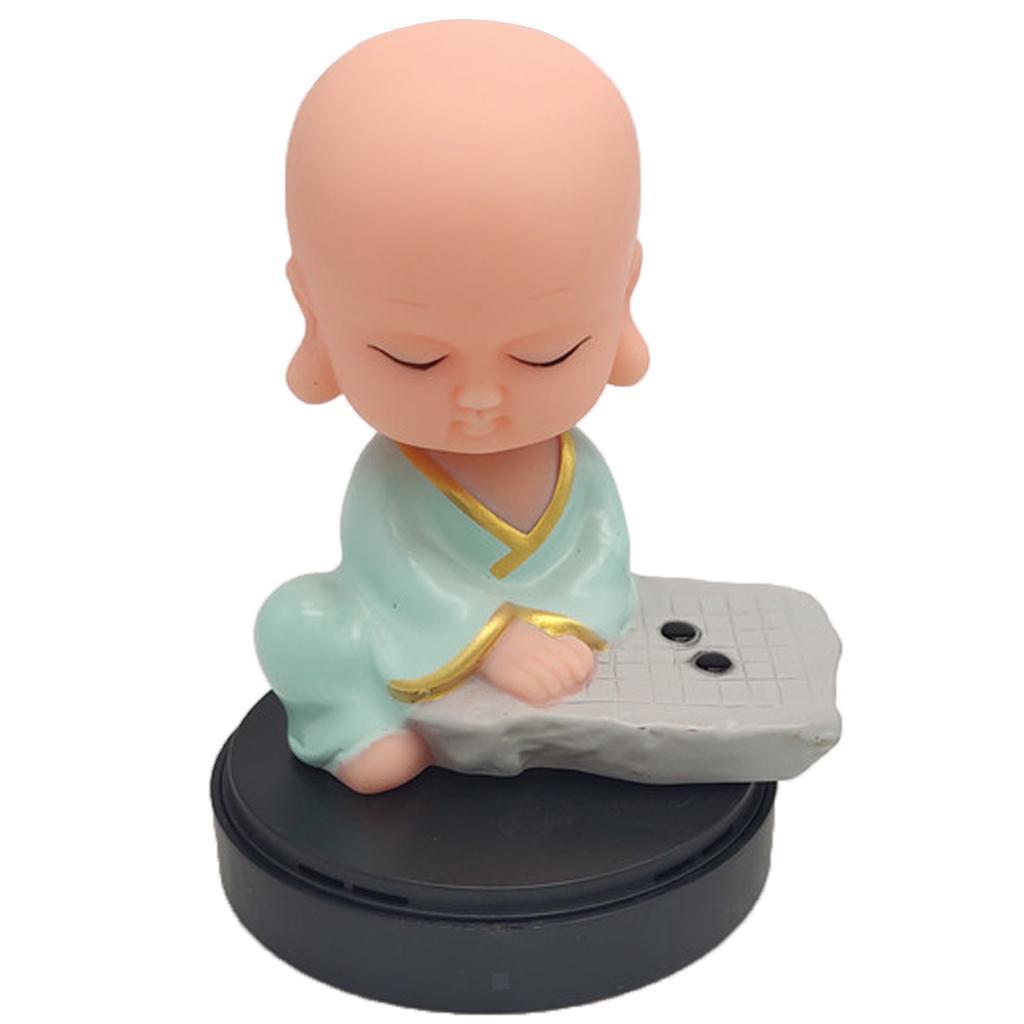 Solar-Powered-Swinging-Buddhist-Monk-Bobble-Toy-Home-Decor thumbnail 12