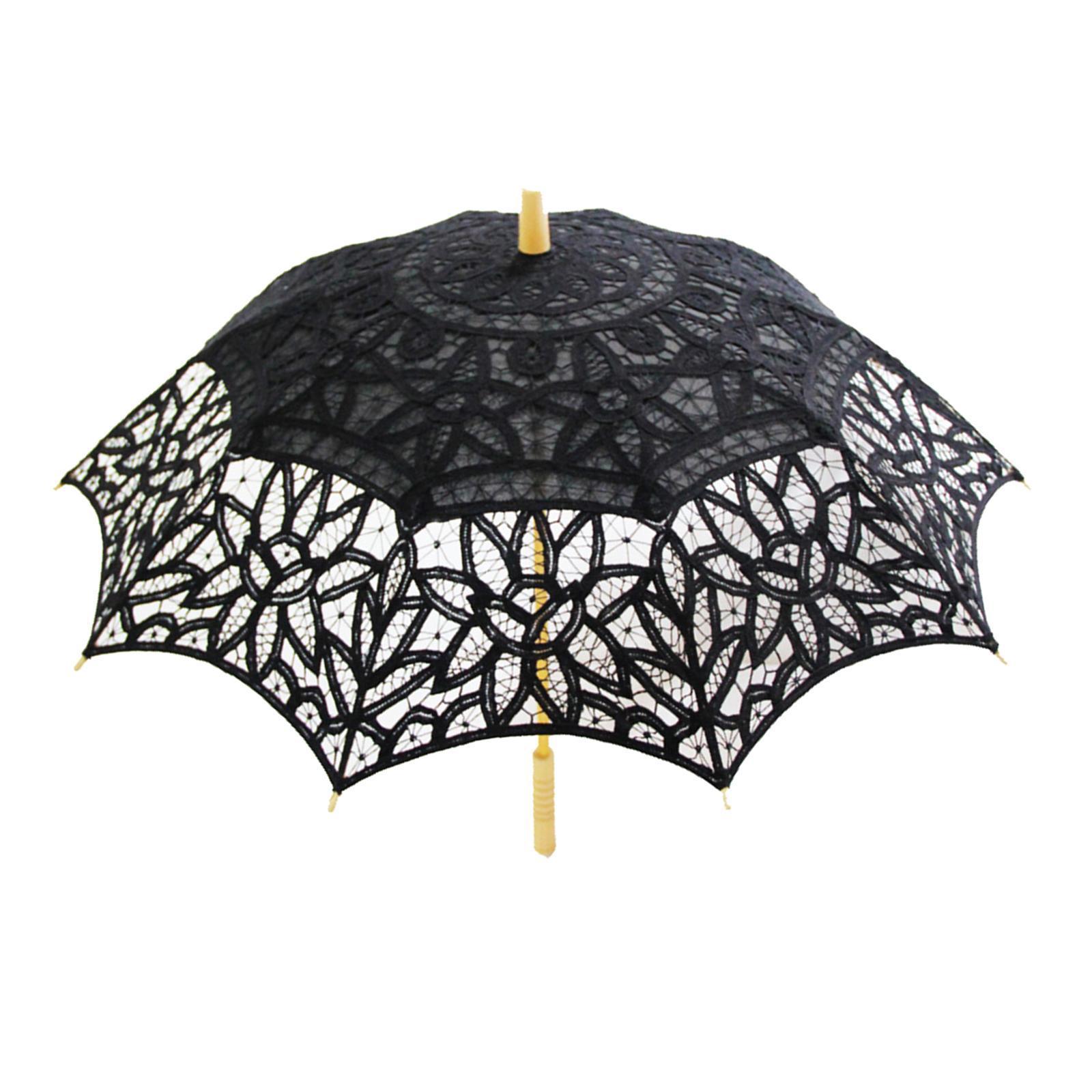 e29f696328d3 Ombrello da sposa in cotone vintage a mano con parasole da sposa