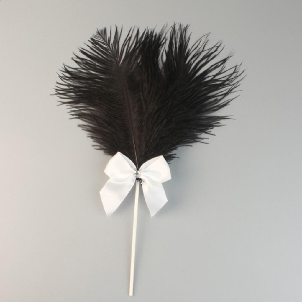Cake-Topper-Feather-Decor-Cake-Insert-Card-For-Wedding-Party thumbnail 15