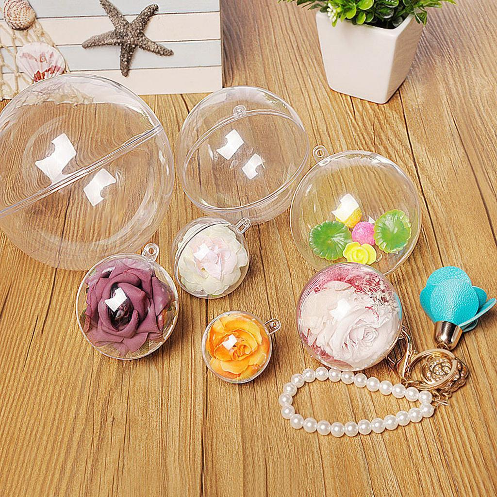 10x-Clear-Plastic-Ball-Baubles-Sphere-Fillable-Christmas-Tree-Ornament-Gift-Box miniatura 18